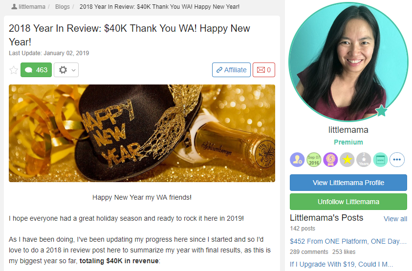 Wealthy Affiliate Review - Success 2